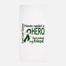Liver Cancer HeavenNeededHero1 Beach Towel