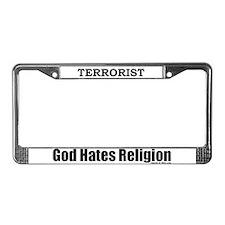 Terrorist License Plate Frame