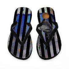 Crow's Stripes Flip Flops