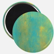 Turquoise and Gold Abstract Magnet