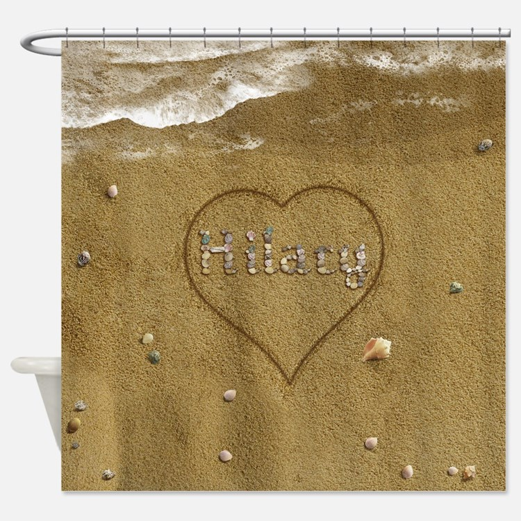 Hilary Beach Love Shower Curtain