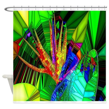 Bird Of Paradise Stain Glass Art Shower Curtain By Admin Cp26591299