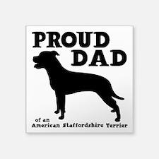 "AM STAFF DAD Square Sticker 3"" x 3"""