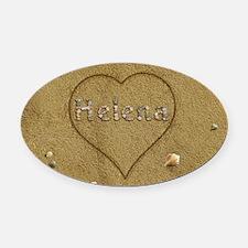 Helena Beach Love Oval Car Magnet