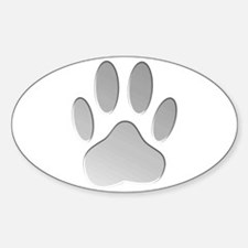 Metallic Dog Paw Print Decal