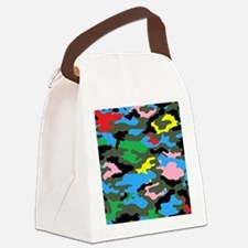 rainbow camouflage Canvas Lunch Bag