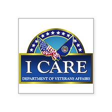 """VA - I Care Square Sticker 3"""" x 3"""""""