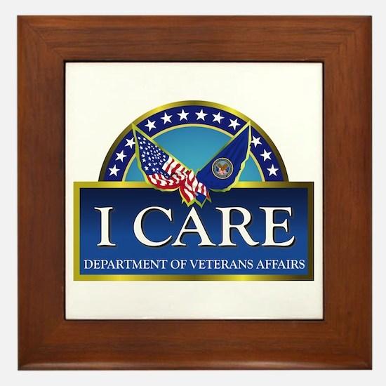 Va - I Care Framed Tile