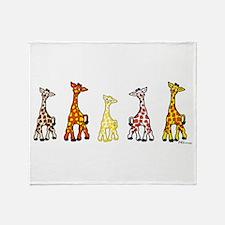 Baby Giraffes In A Row Throw Blanket
