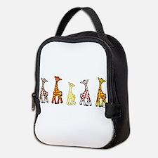 Baby Giraffes In A Row Neoprene Lunch Bag