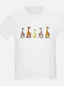 Baby Giraffes In A Row T-Shirt