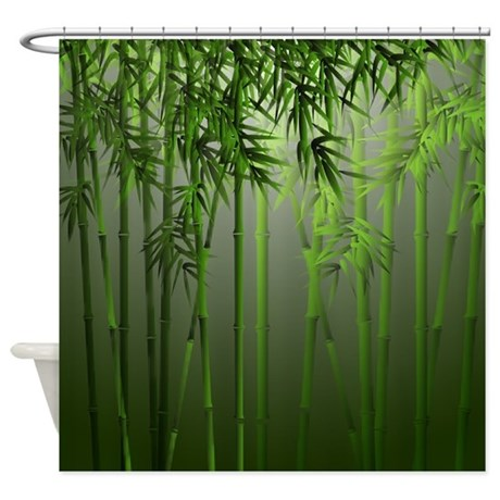 Bamboo Jade Mist Shower Curtain