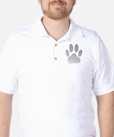 Metallic Dog Paw Print T-Shirt