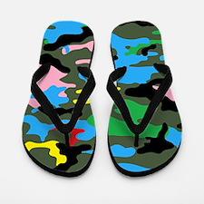 rainbow camouflage Flip Flops