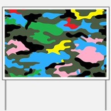 rainbow camouflage Yard Sign
