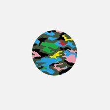 rainbow camouflage Mini Button (10 pack)