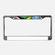 rainbow camouflage License Plate Frame