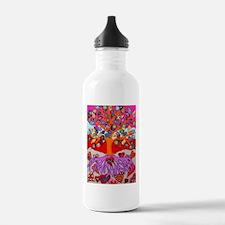 Heart Flowers - Tree o Water Bottle