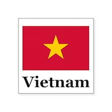 "Funny Flag of vietnam Square Sticker 3"" x 3"""