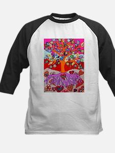 Heart Flowers - Tree of Life - Jen Baseball Jersey