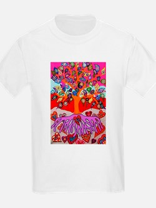 Heart Flowers - Tree of Life - Jennifer Fa T-Shirt