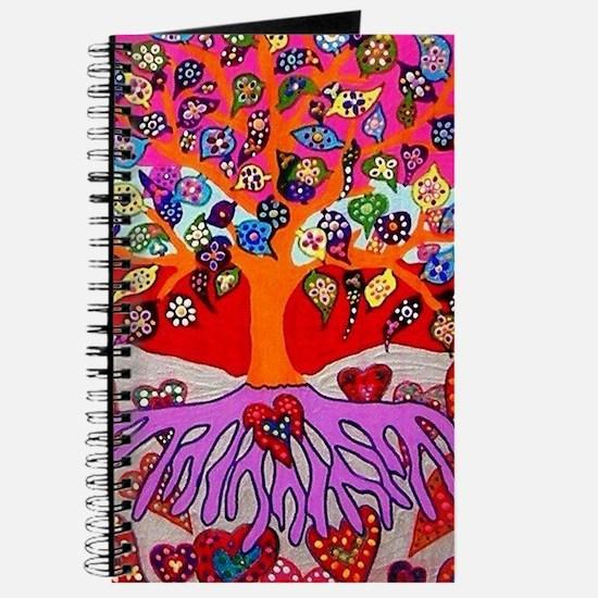 Heart Flowers - Tree of Life - Jennifer Fa Journal