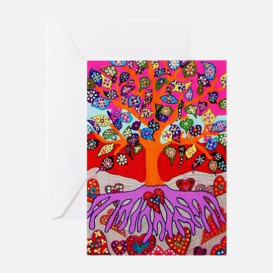 Heart Flowers - Tree of Life - Jenn Greeting Cards