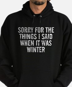 Sorry For The Things I Said When It Hoodie