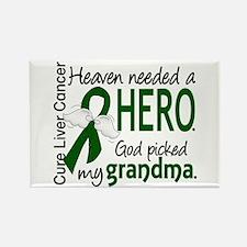 Liver Cancer HeavenNeededHero1 Rectangle Magnet