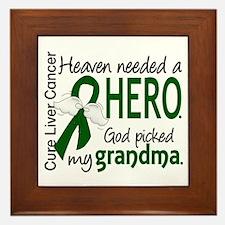 Liver Cancer HeavenNeededHero1 Framed Tile