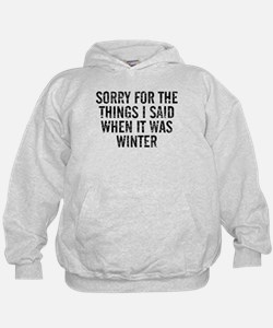 Sorry For The Things I Said When It Wa Hoodie