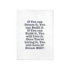 Dream, Build, Live, Love 5'x7'Area Rug
