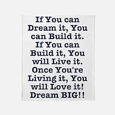 Dream, Build, Live, Love Throw Blanket