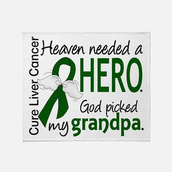 Liver Cancer HeavenNeededHero1 Throw Blanket