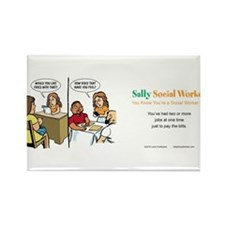 Funny Sally Rectangle Magnet