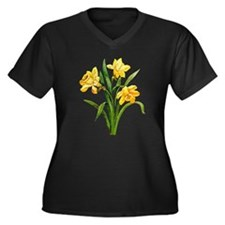 JONQUILS Women's Plus Size V-Neck Dark T-Shirt