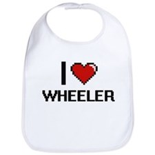 I Love Wheeler Bib
