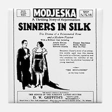 Adolphe Menjou Sinners In Silk Tile Coaster