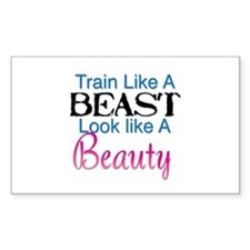 Train Like A Beast Look Like A Beauty Stickers