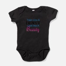 Train Like A Beast Look Like A Beaut Baby Bodysuit