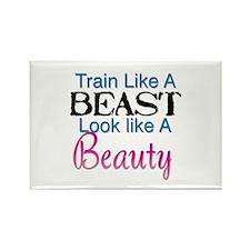 Train Like A Beast Look Like A Beauty Magnets