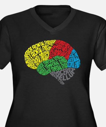 Your Brain (Anatomy) on Words Plus Size T-Shirt
