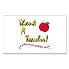 Thank a Teacher Rectangle Decal