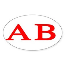 Alpha Beta Oval Decal