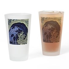Feminine Wave by Hokusai Drinking Glass