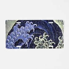 Feminine Wave by Hokusai Aluminum License Plate