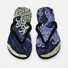 Feminine Wave by Hokusai Flip Flops
