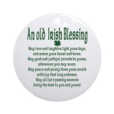 Old irish Blessing Ornament (Round)