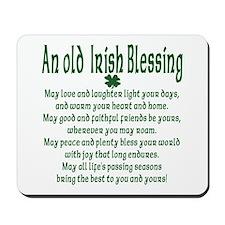 Old irish Blessing Mousepad