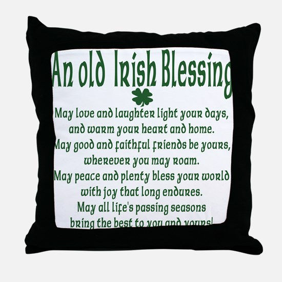 Old irish Blessing Throw Pillow